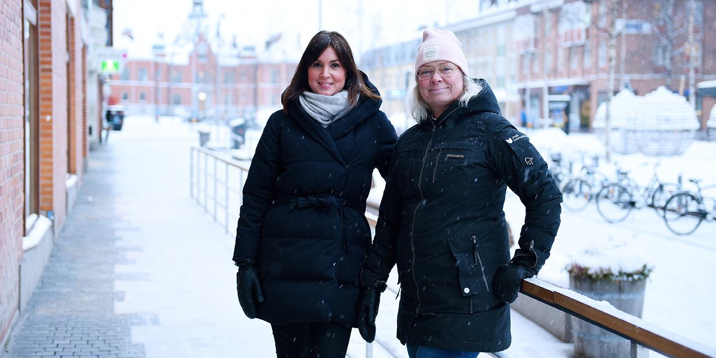 Unga entreprenörer i Västerbotten ska få ännu mer hjälp för att nå ut med sina innovationer. Kerstin Edvardsson och Lena Öhlund på BIC Factory gläder sig åt det nya anslaget på 13 miljoner.
