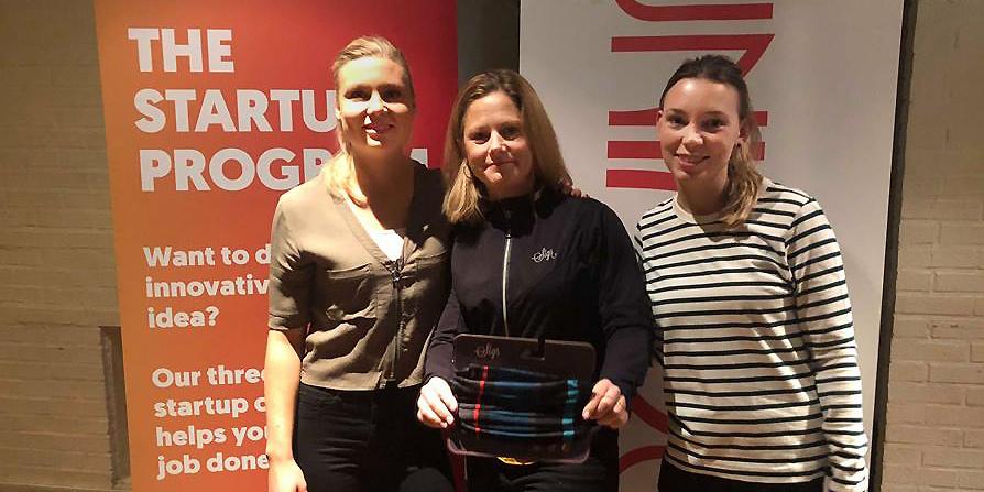 Magdalena Lindström, projektledare Uminova Innovation, Jenny Ferry, medgrundare Sigr, och Emma Sundman, studententreprenör Uminova Innovation.