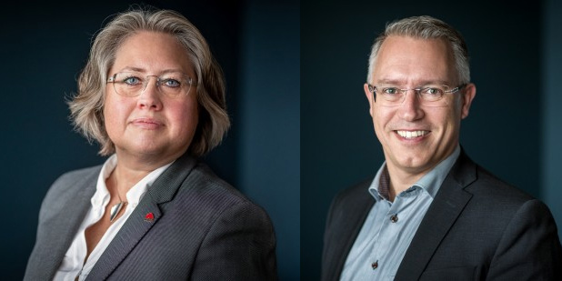 Ann-Christine Schmidt och Patrik Öhlund från Node Pole deltog under seminariedagen kring datacenterbranschen.