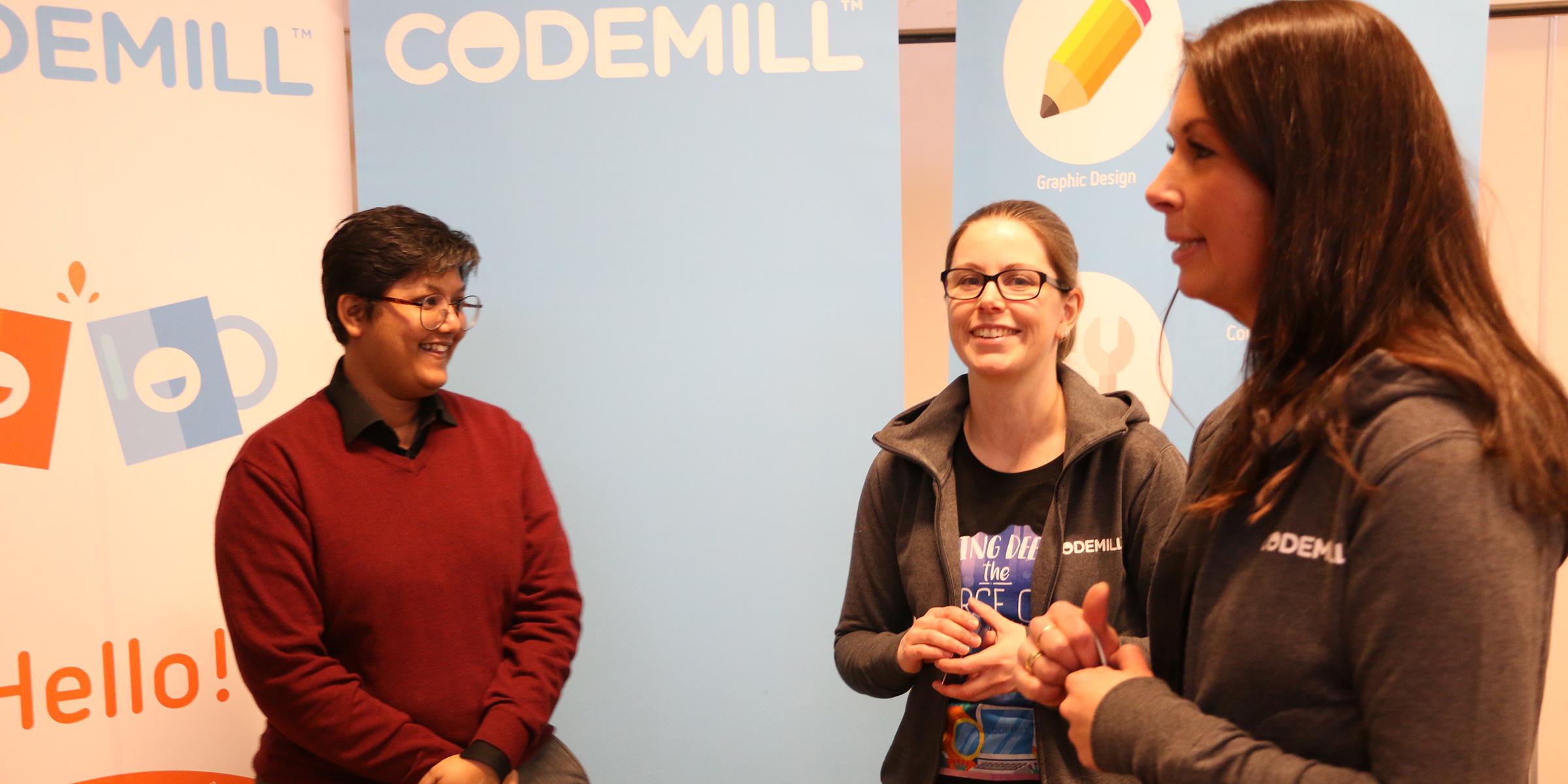 Codemill var ett av företagen som var på plats under Datatjej konferensen.