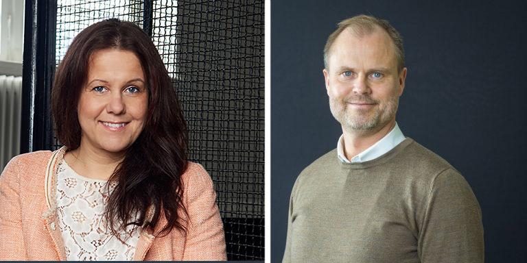 Maria Sandin, The Game Assembly, och Fredrik Nyström, Uminova Innovation, ser fram mot de nya dataspelutbildningarna i Umeå.