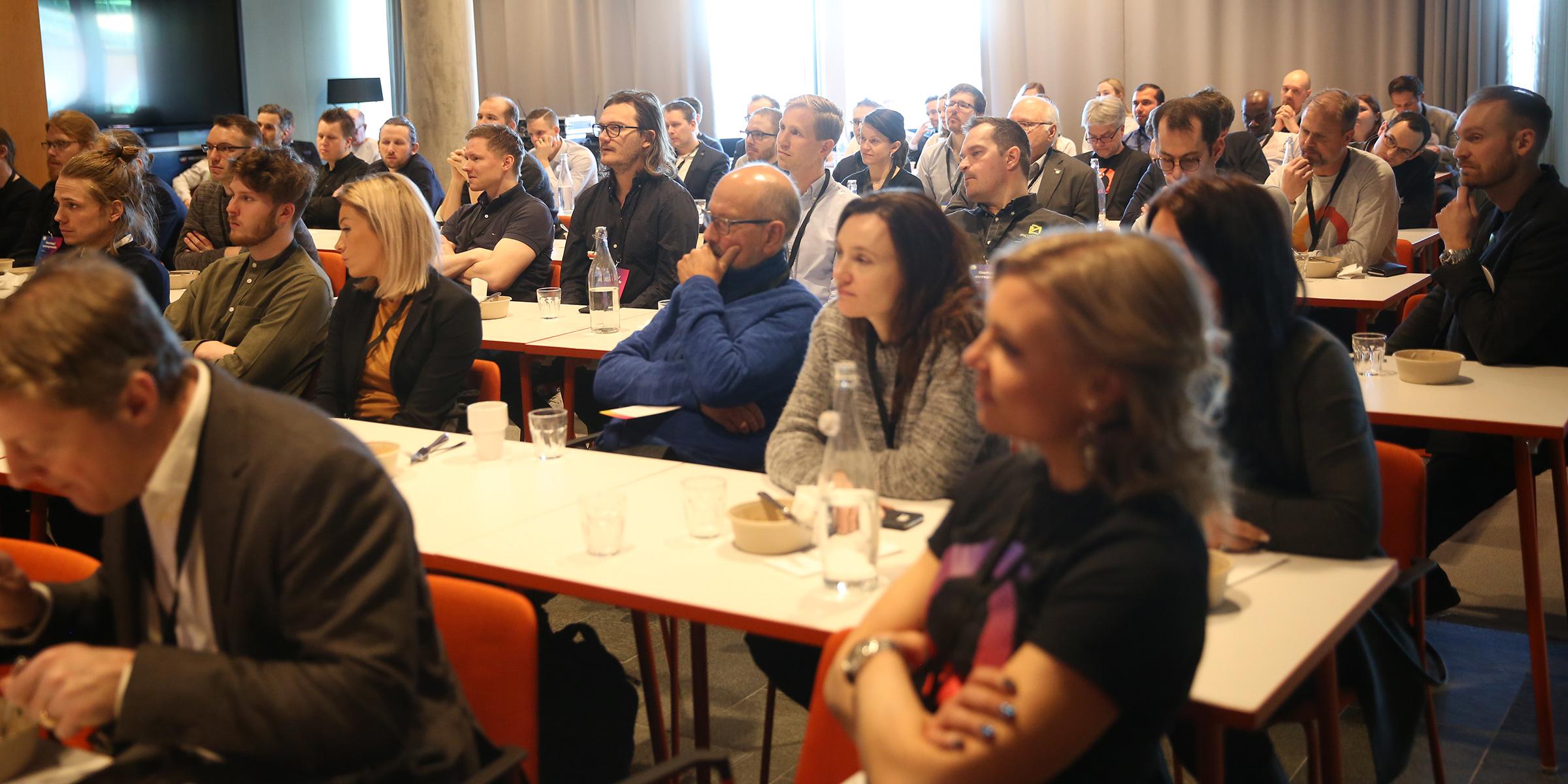 Stort intresse för att ta del av investerarnas råd till startupföretag.