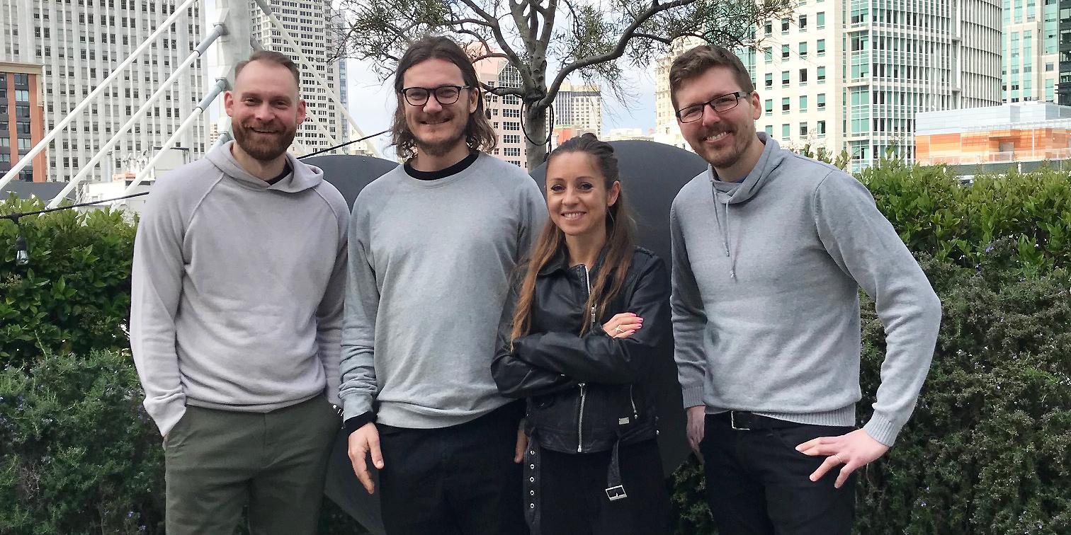 Med på studieresan till Silicon Valley var, från vänster, Ted Bergner, Joakim Blomqvist, Maria Olofsson och Per Fransson.