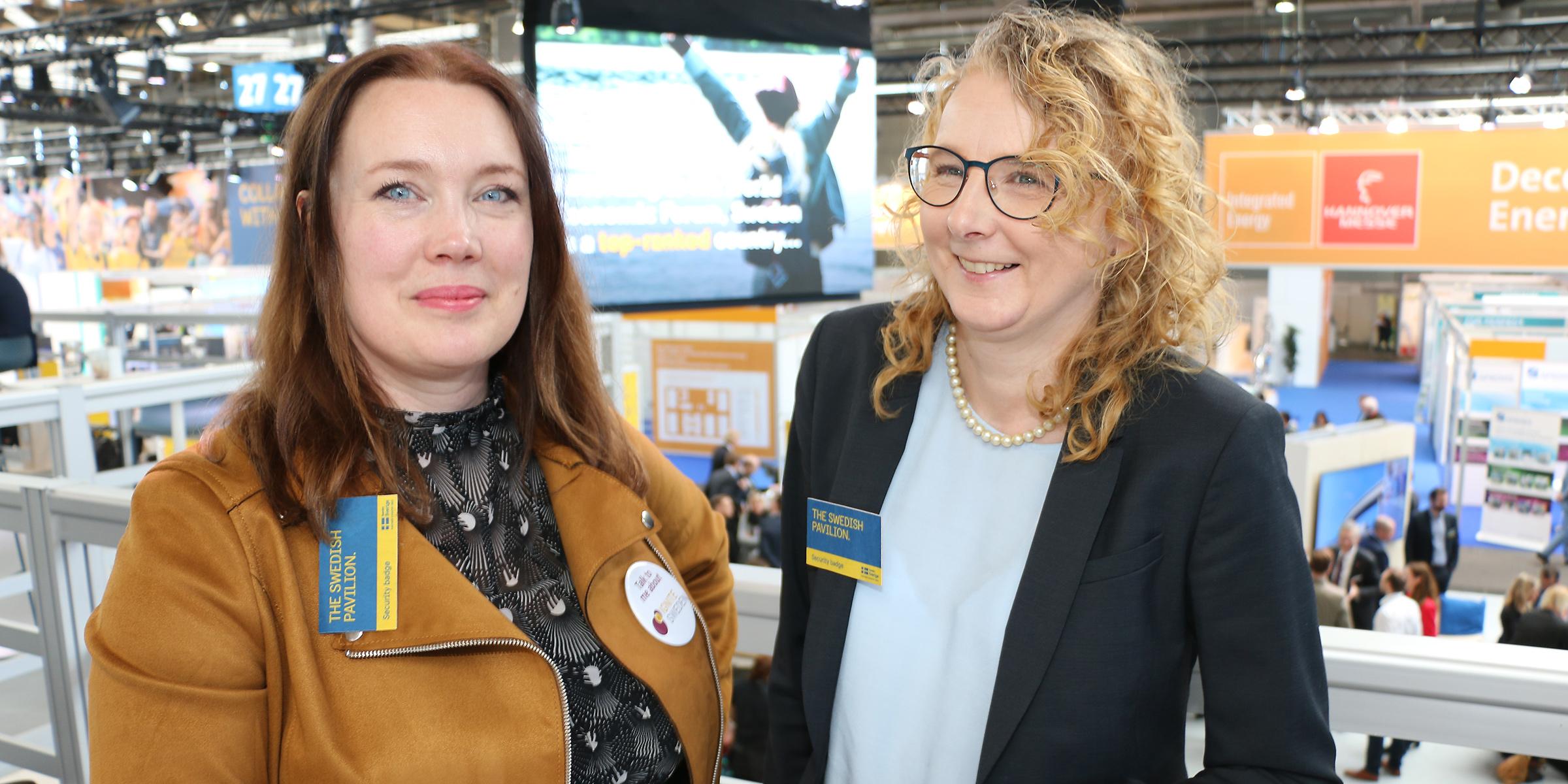 Stina Lantz, Ignite Sweden, och Kajsa Hedberg, Swedish Incubators & Science Parks, Ger gärna stöd åt svenska startup-bolag som Piczitup.