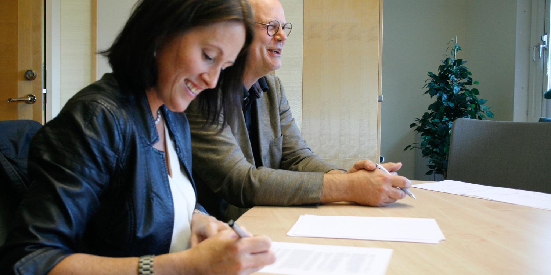 Sofia Mayans som grundade Inficure Bio tillsammans med Dan Holmberg.