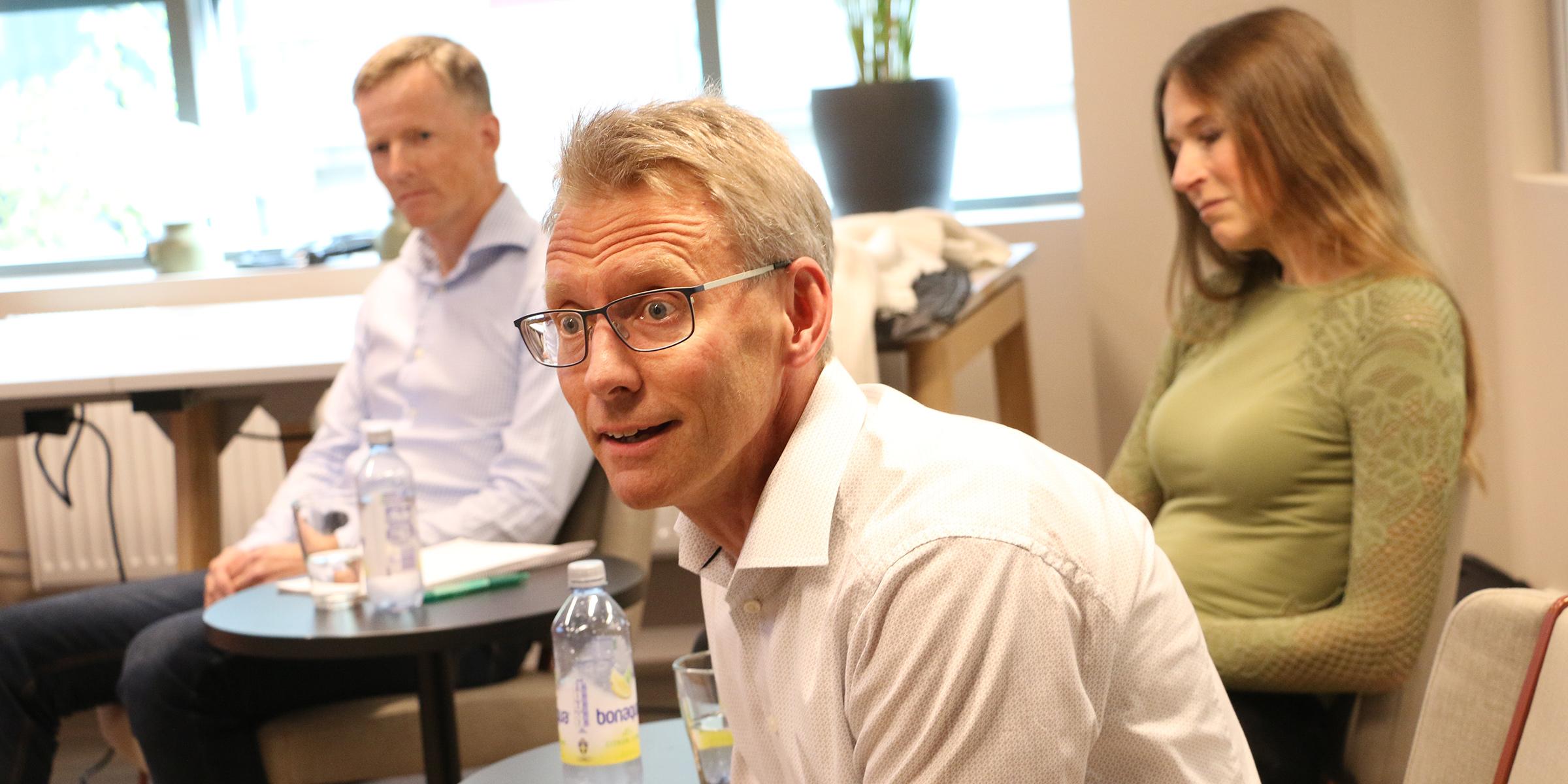 Per Nordgren, från bolaget Karnell, var en av tre investerare i kvällens panel som samtalade startupbolagen. De övriga var Mattias Pettersson, Northern Light Capital, och Lena Fridlund Forsgren, Partnerinvest Norr.
