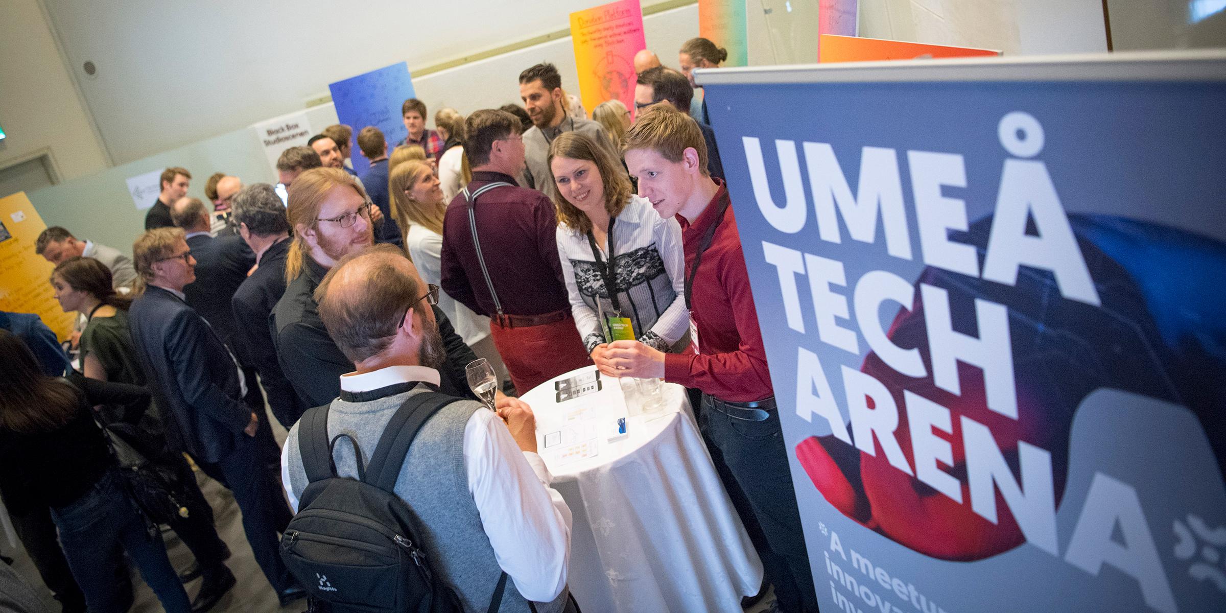 I pauserna fanns många möjligheter att träffa startupbolag från Uminova Innovations Startupprogram.