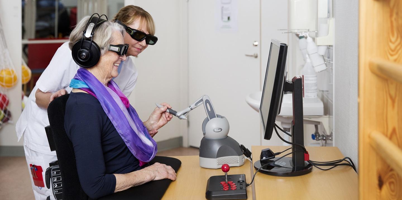 Brain Stimulation kombinerar neurovetenskap med 3D, virtual reality och robotik till en helt ny behandlingsmetod för strokepatienter.