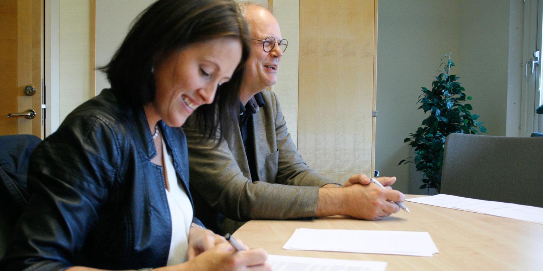 Sofia Mayans och Dan Holmberg, grundarna av Inficure Bio.