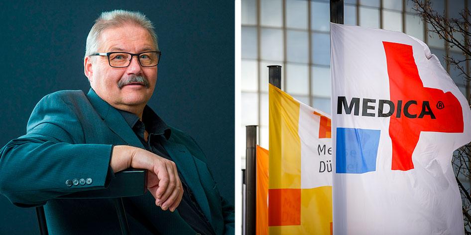Kurt Strömgren, affärsutvecklare för EEN och Uminova Innovation, ser gärna att fler startups och företag följer med till Medica, världens största vård- och medicinmässa.