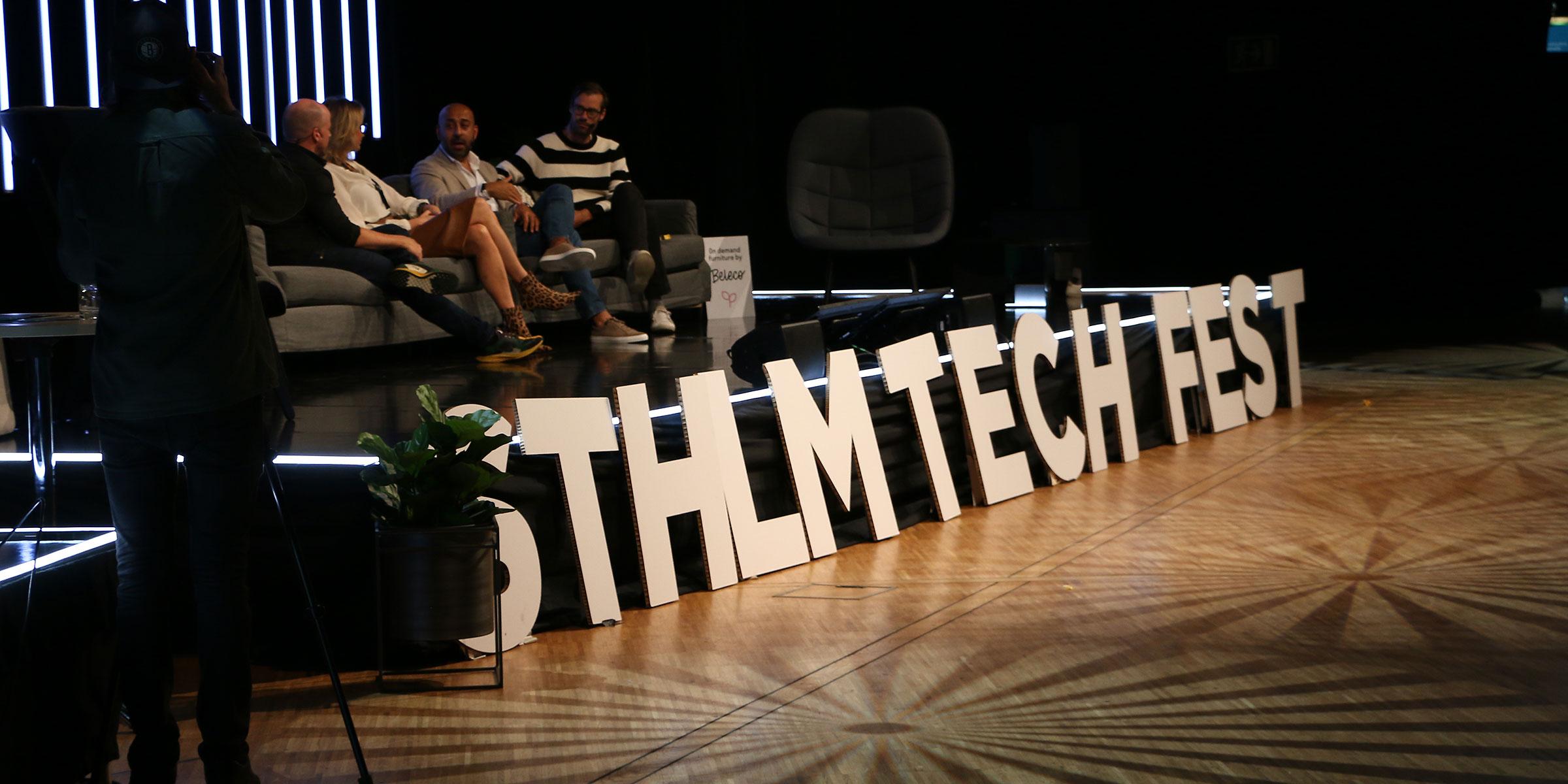 Panelsamtal och föredrag på Sthlm Tech Fest lockar över tusen deltagare, bland annat till samtal om hur startups kan bidra till hållbara lösningar på samhällsutmaningar.
