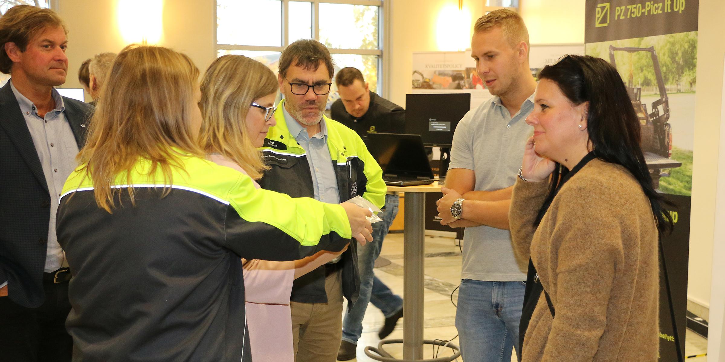 SolarScaling var ett av bolagen på plats. Längst till höger syns Jeanette Kjellberg, en av grundarna.