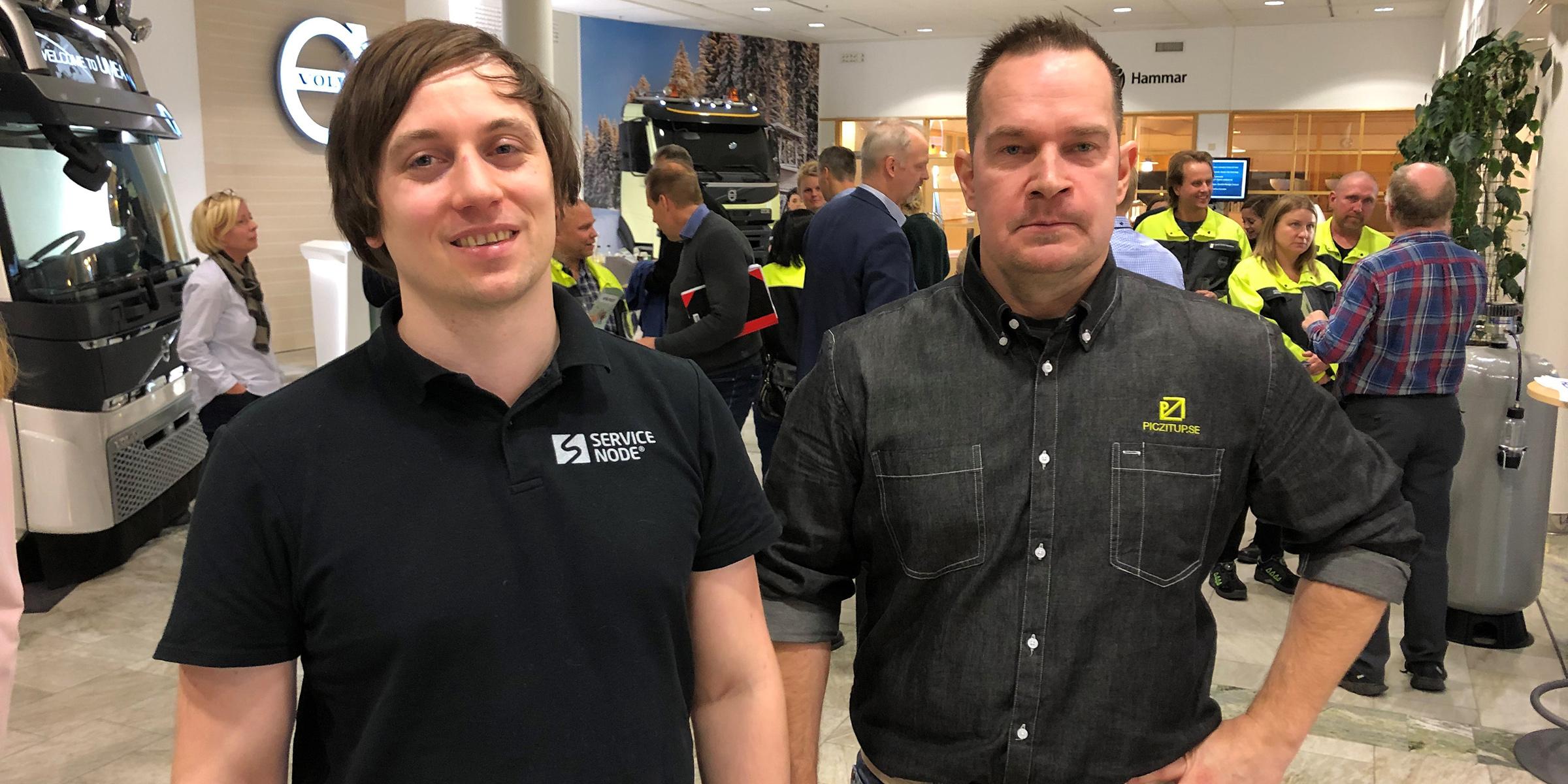 Johannes Nylund, ServiceNode, och Erik Häggström, Piczitup, var två av entreprenörerna som deltog under dagen.