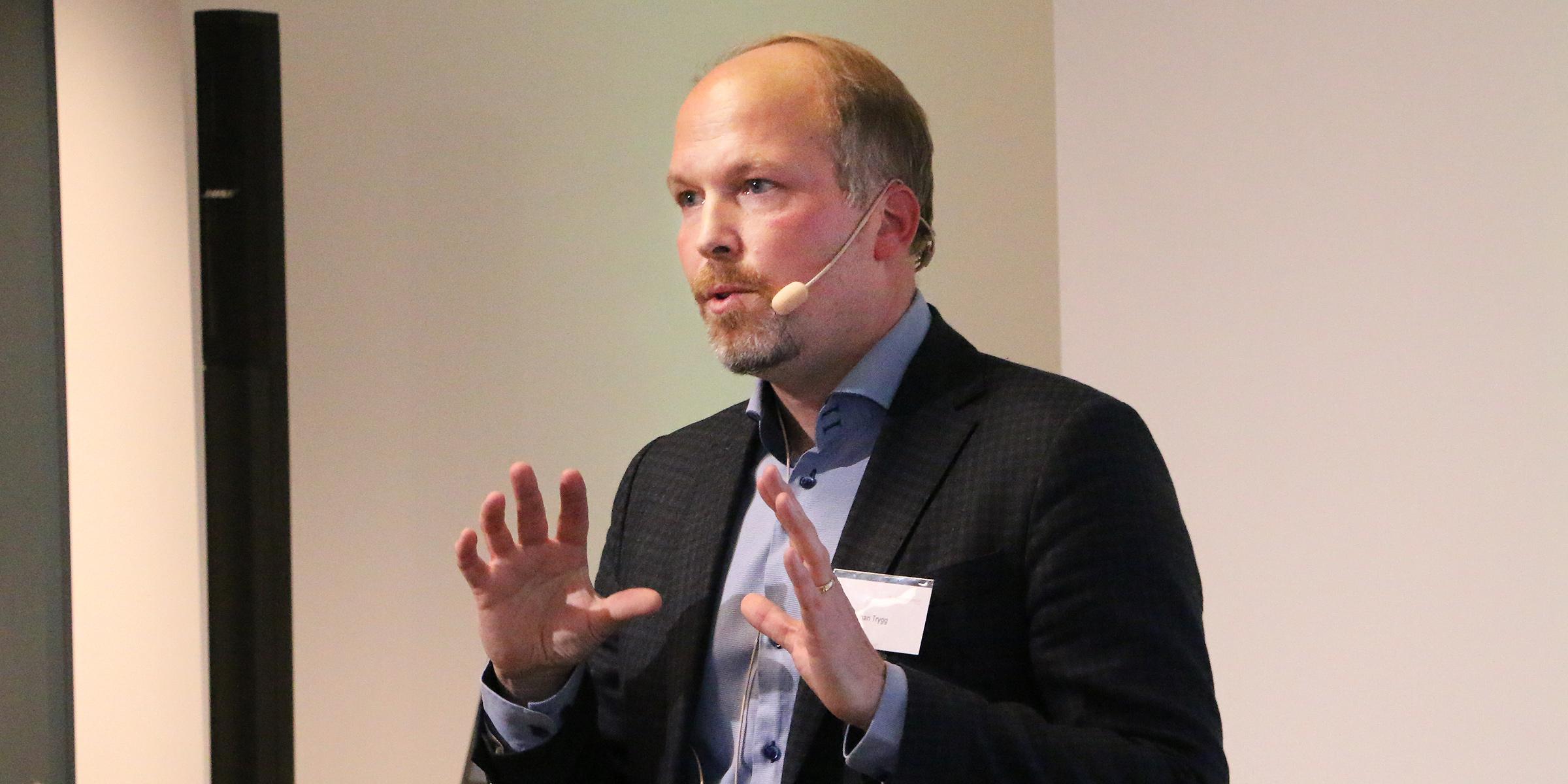 Johan Trygg, forskningsledare för Sartorius i Umeå, ser fram mot ett samarbete med startupbolag, näringsliv, universitet och offentlig sektor i Umeå.