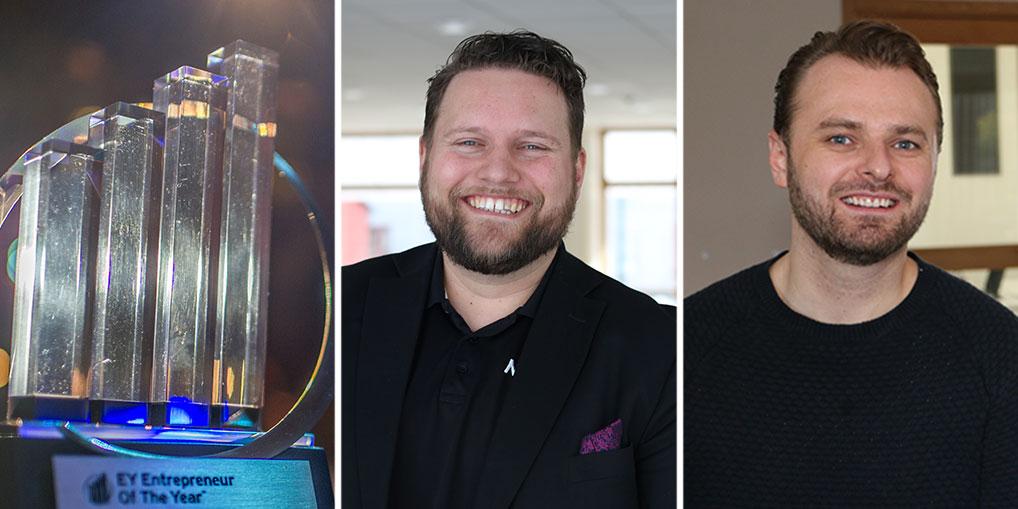 Harry van der Veen, Nuiteq, och Niclas Lundell, Personalkollen, är två av finalisterna i EY Entrepreneur Of The Year, norra regionen.