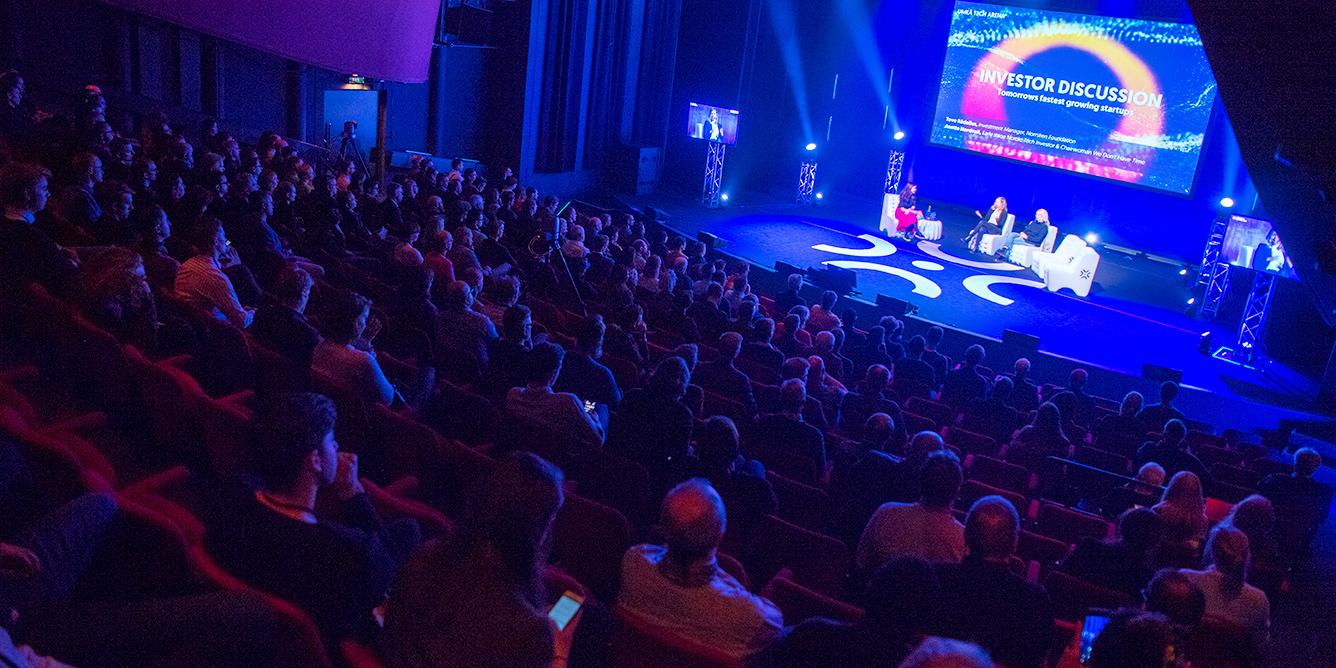 Fullt hus när Umeå Tech Arena visade på nya tekniktrender och samverkan mellan startups och stora bolag.