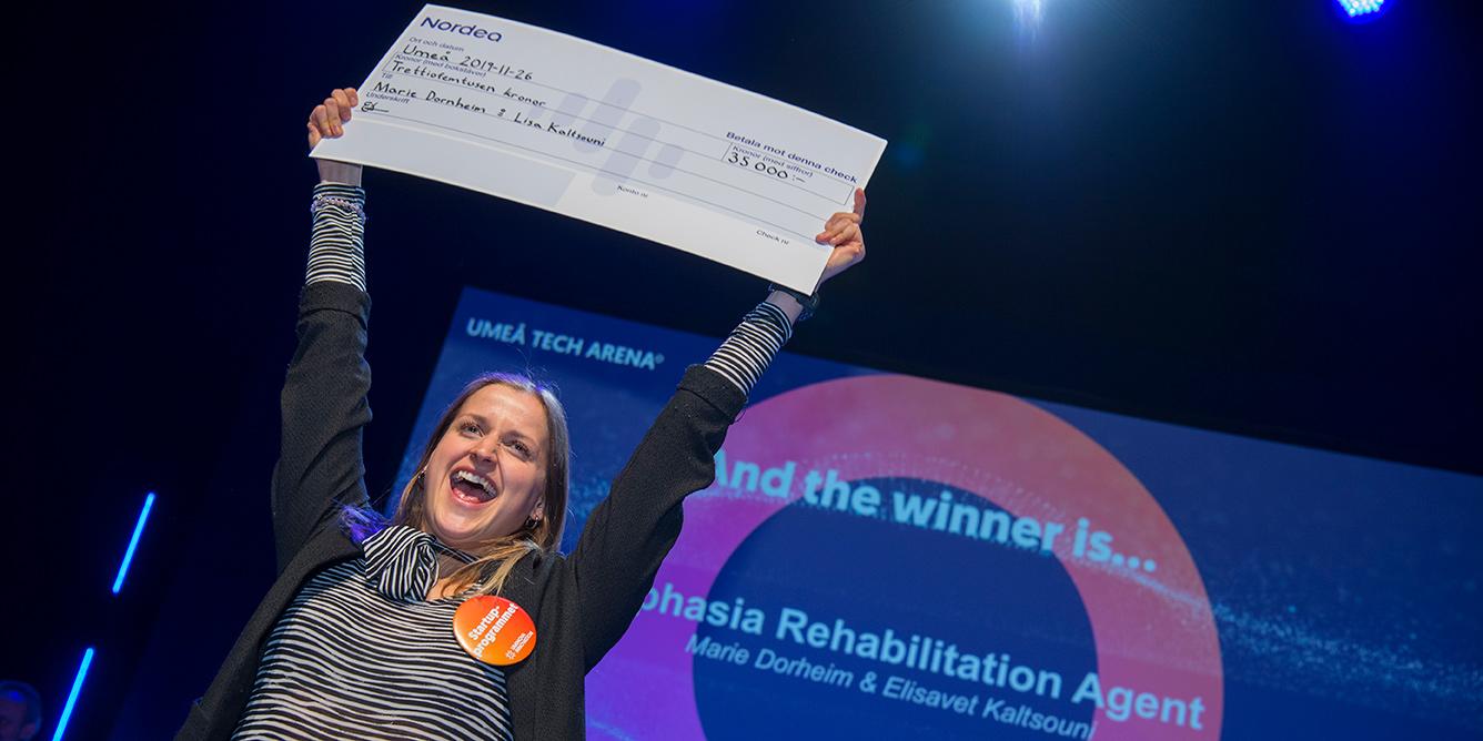 Marie Dorheim, var en av entreprenörerna som hyllades med stipendium från Nordea.