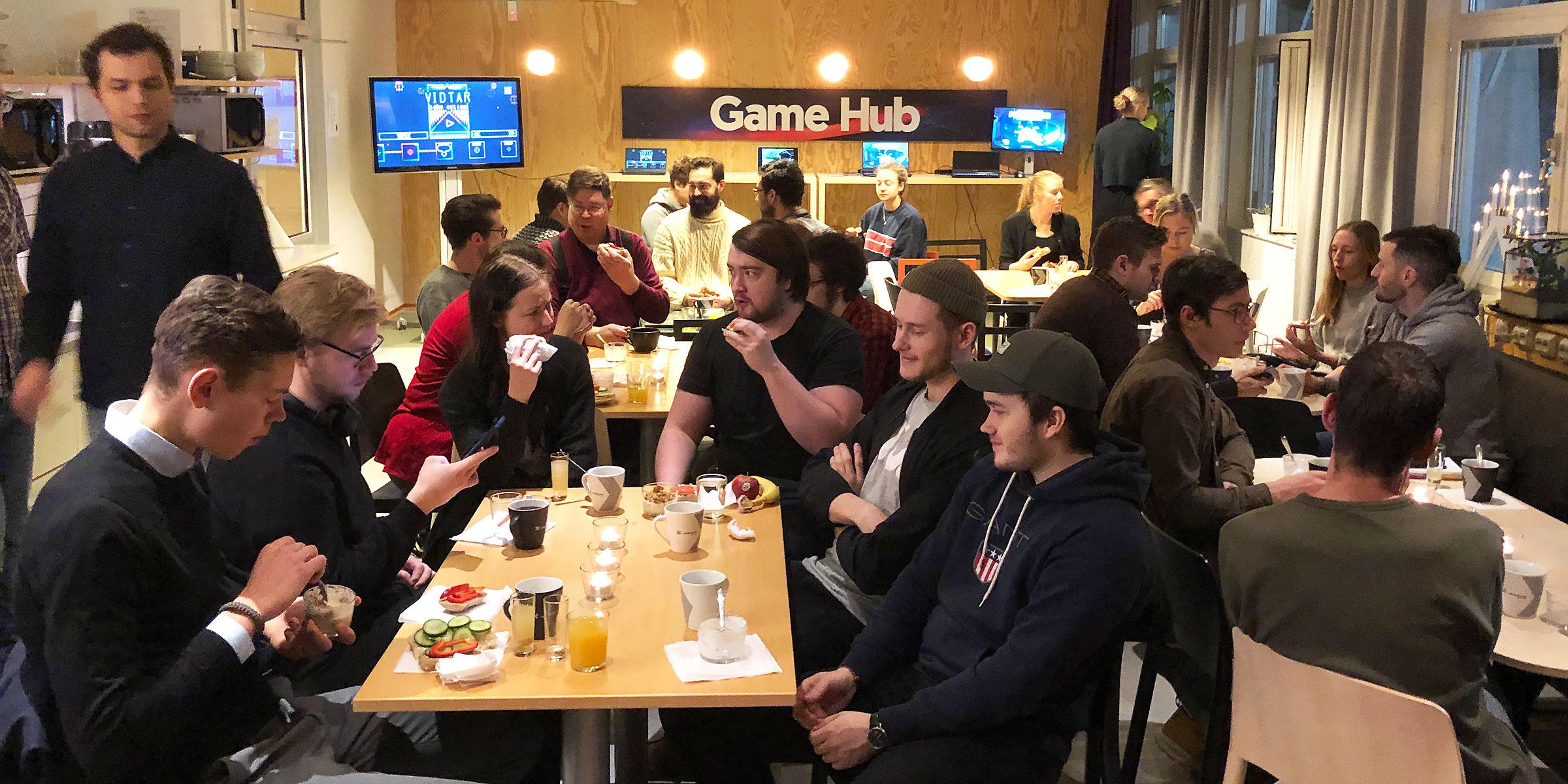 Under Startup Coffee fick deltagarna även pröva på några av de spel som spelbolagen tagit fram.