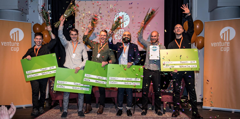 Vinnarna i Venture Cup Nord firades stort.