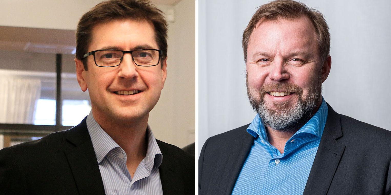 Peter Lidström, vd COS Systems, och Mats Berggren, vd Umeå Energi Umenet.