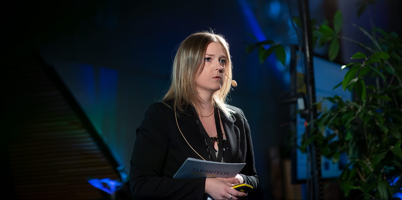 Jenny Åkermark, ansvarig för Smart City Sweden Region Norr berättade om det stora internationella intresset för grön teknik från Sverige.
